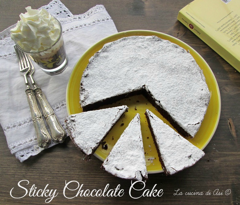 sticky chocolate cake La cucina di ASI © blog 2015