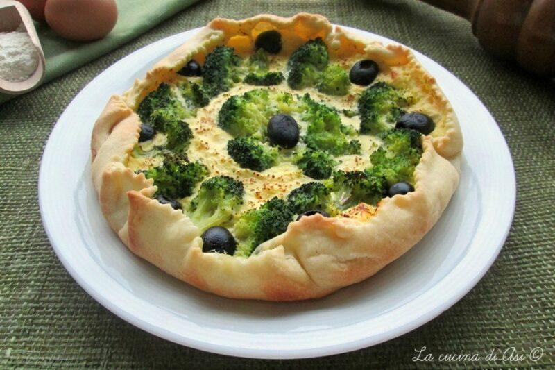 TORTA SALATA CON BROCCOLI E OLIVE Ricetta salata