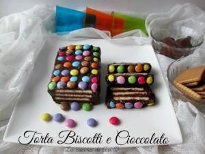 torta di biscotti e cioccolato