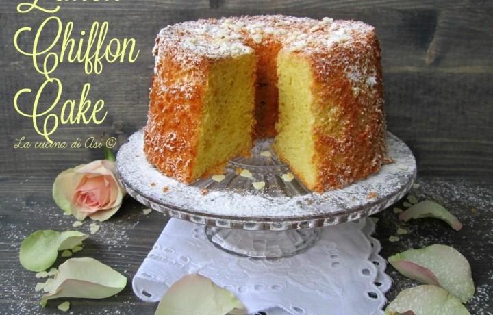 LEMON CHIFFON CAKE Ricetta dolce