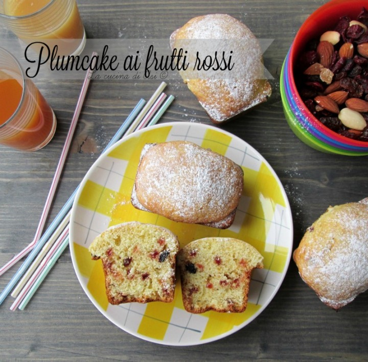 plumcake frutti rossi