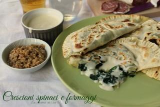 crescioni spinaci formaggi