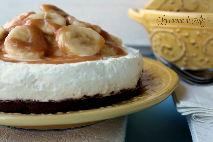 cheesecake banane e caramello