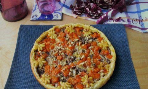 QUICHE CON RADICCHIO E ZUCCA Ricetta torta salata