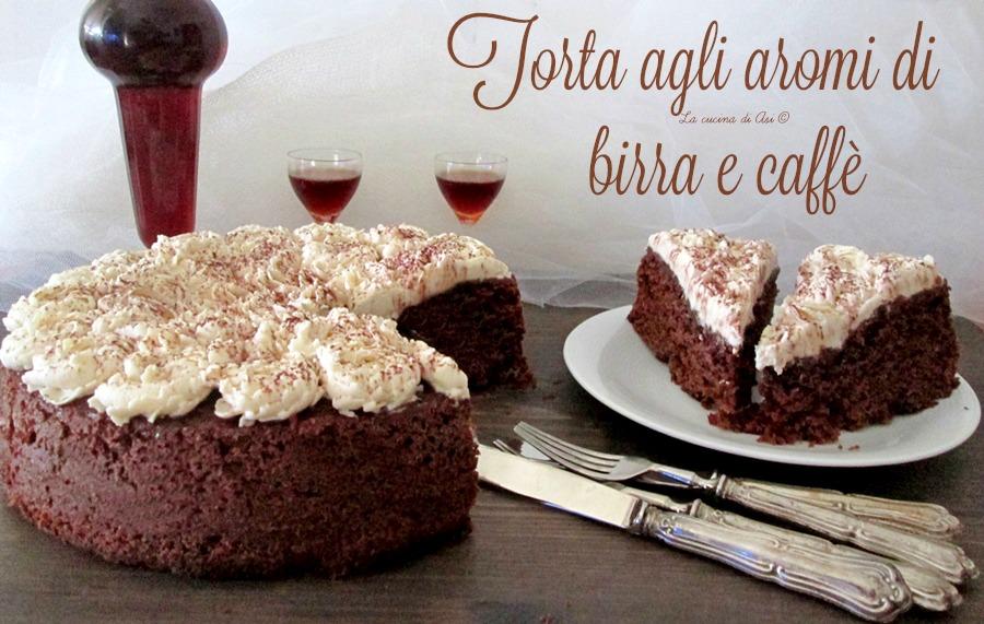 torta agli aromi di birra e caffè