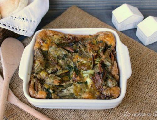 TORTINO DI CARCIOFI E UOVA Ricetta piatto unico
