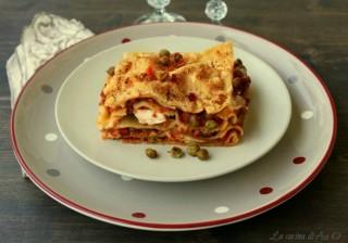 lasagne con verdure e uova sode