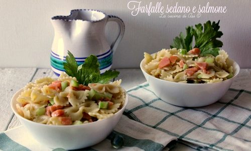 FARFALLE SEDANO E SALMONE