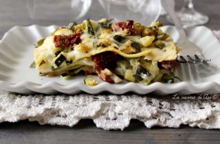 lasagne rucola zucchine e caprino