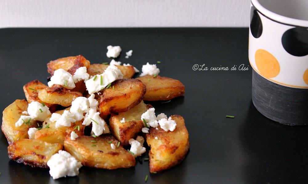 patate arrosto e feta greca