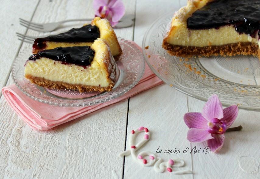 torta di mirtilli e robiola