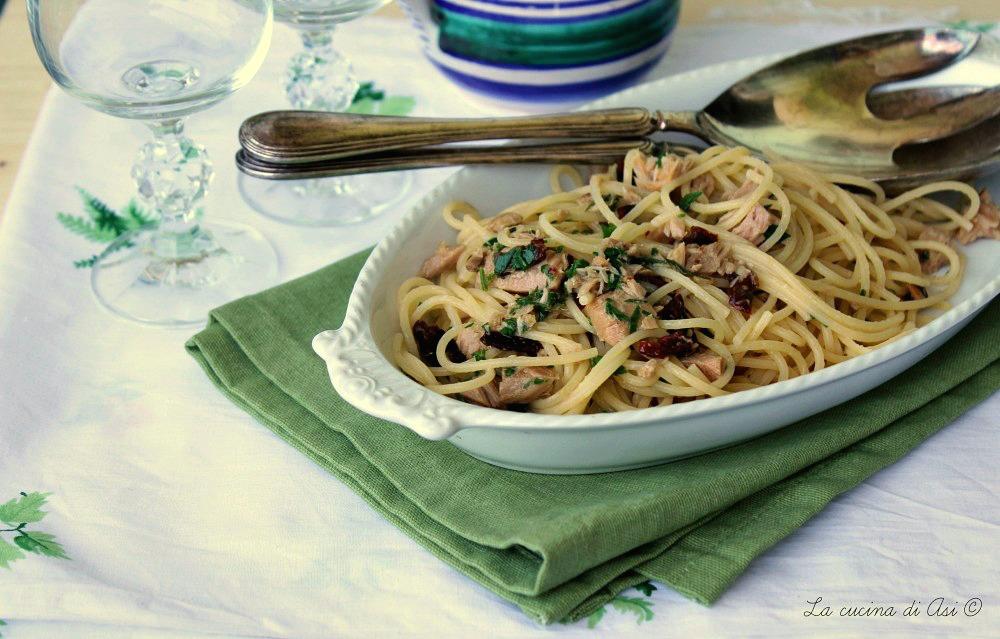 spaghetti aglio tonno e olio