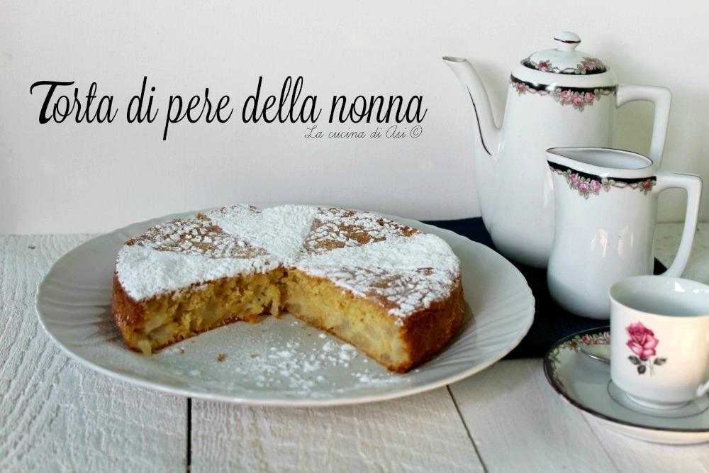 torta di pere della nonna