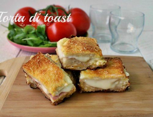 Torta di toast-ricetta golosa