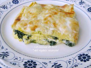 lasagne con spinaci