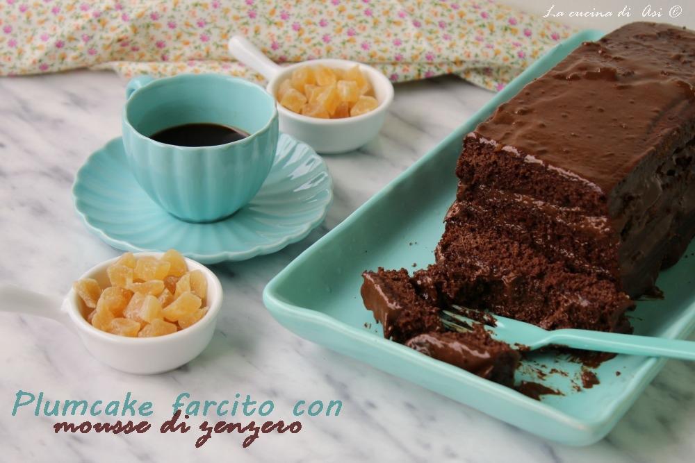 plumcake farcito con mousse di zenzero