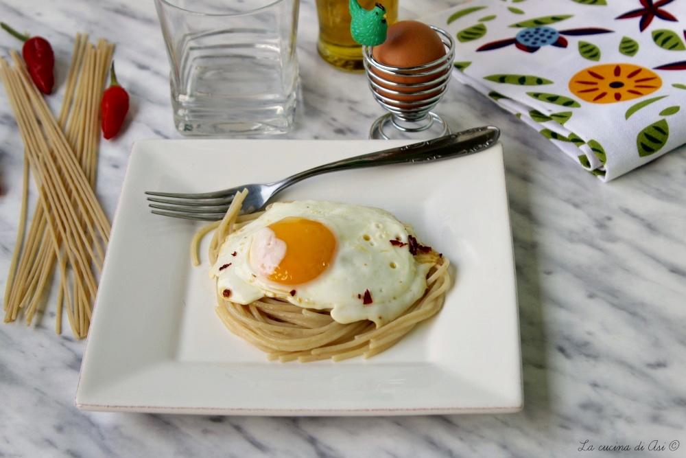 spaghetti alle uova fritte