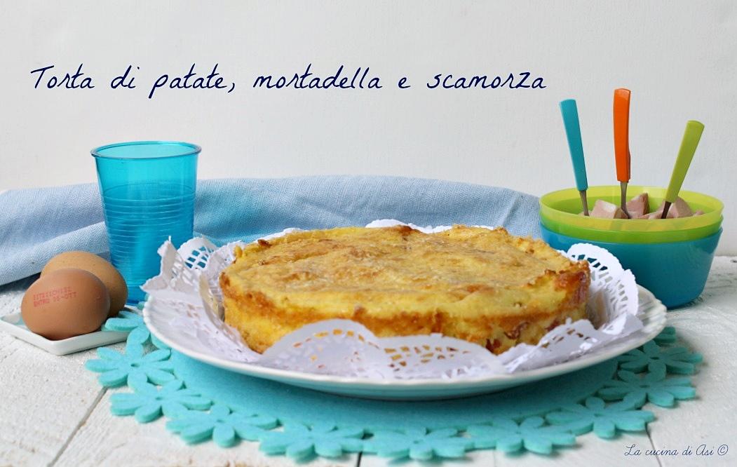 torta di patate mortadella e scamorza