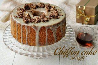 chiffon cake al caffè con glassa golosa