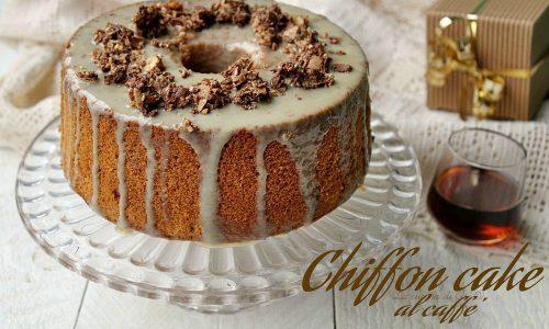 CHIFFON CAKE AL CAFFE'  CON GLASSA GOLOSA