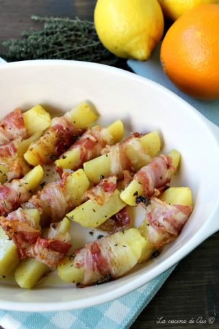 Spicchi di patate con agrumi e timo