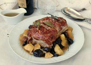 arrosto con prugne e mele ricetta appetitosa