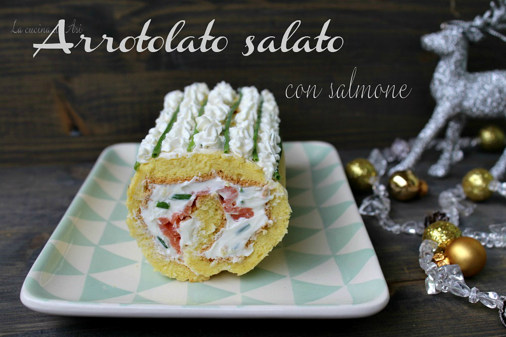 arrotolato salato con salmone