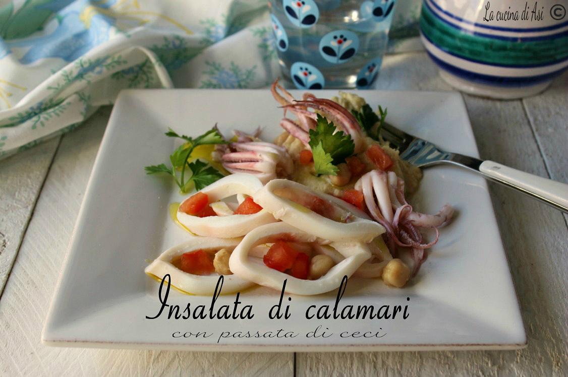 insalata di calamari con passata di ceci