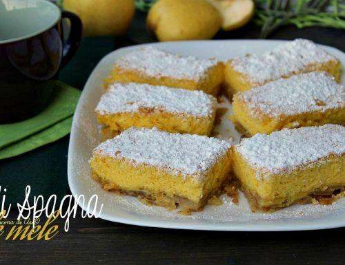 Pan di Spagna alle mele o biskvit