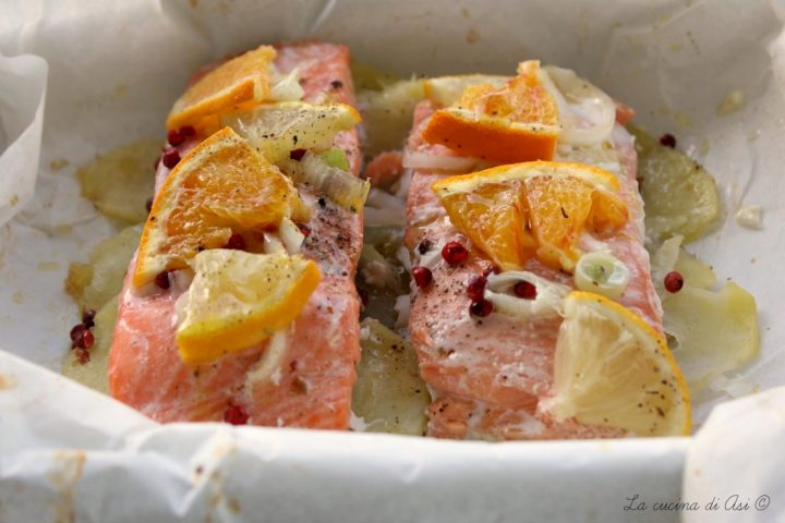 salmone al cartoccio