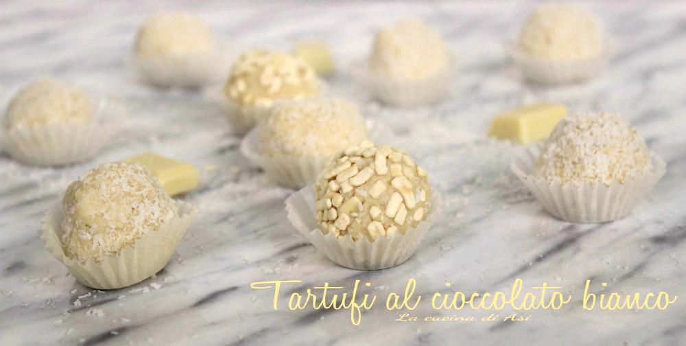 tartufi al cioccolato bianco