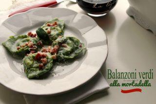 balanzoni verdi alla mortadella,