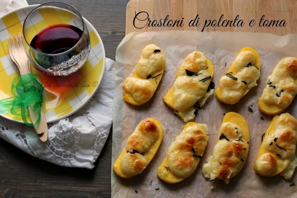 crostoni di polenta e toma
