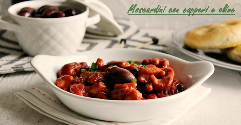 moscardini con capperi e olive