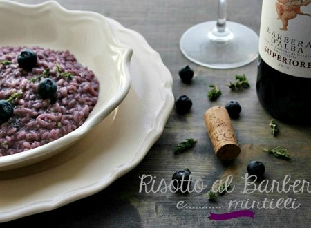 RISOTTO AL BARBERA E MIRTILLI