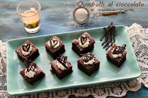 Quadrotti al cioccolato e mascarpone