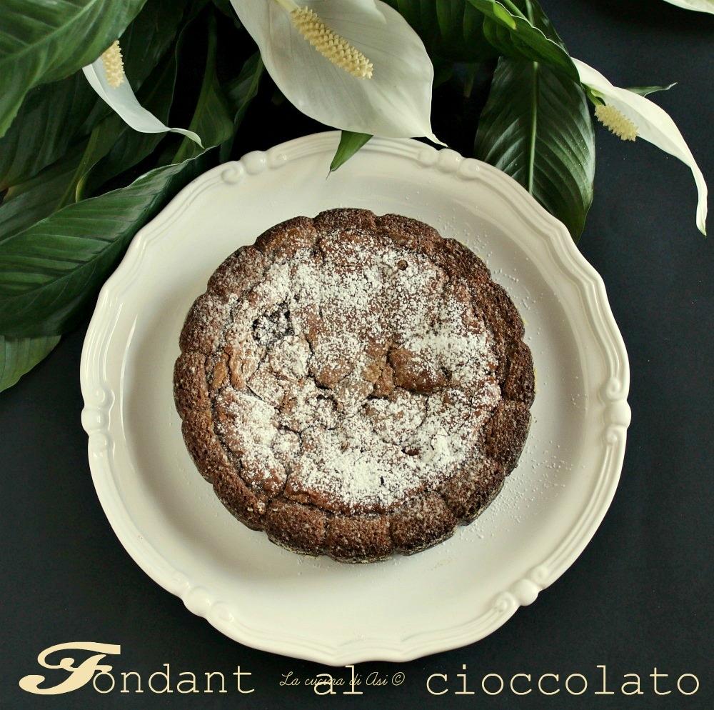 ricetta fondant al cioccolato