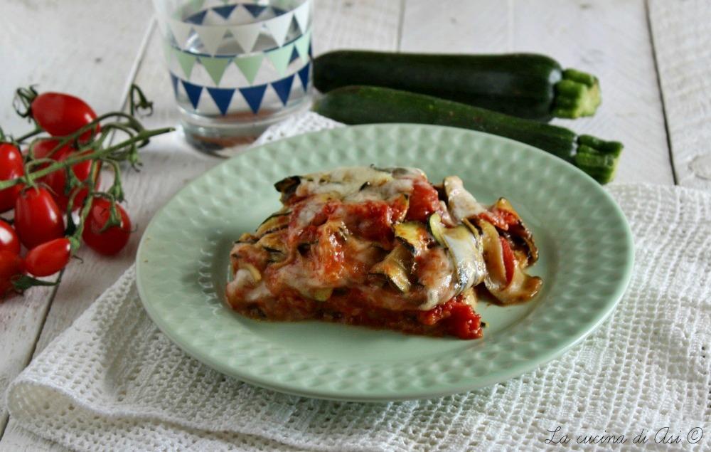 Sformato di zucchine e scamorza al forno - appetitoso, filante e gustoso