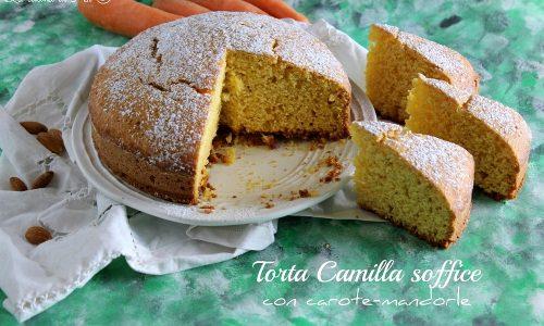 TORTA CAMILLA SOFFICE CON CAROTE E MANDORLE