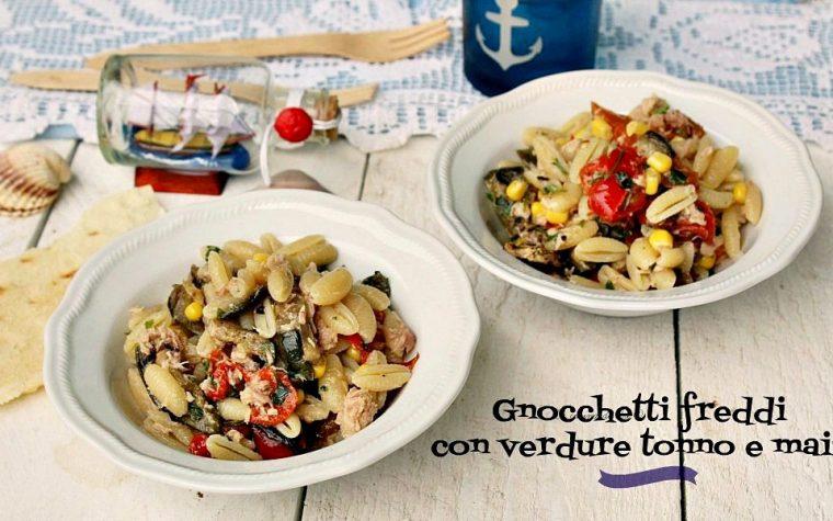 Gnocchetti freddi con verdure tonno e mais