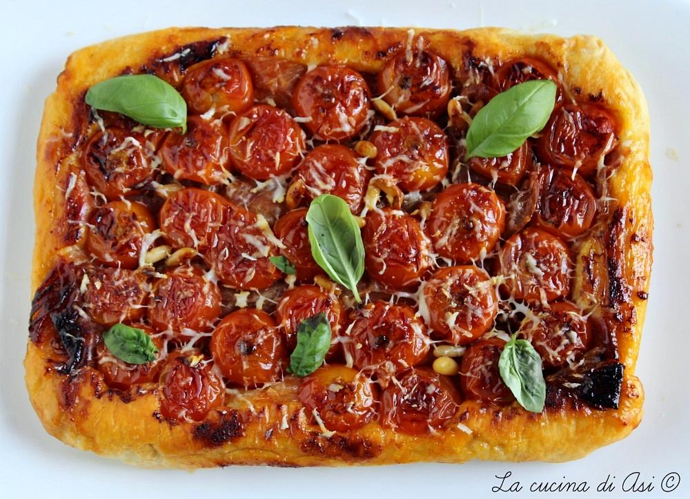 Tarte Tatin facile con pomodorini