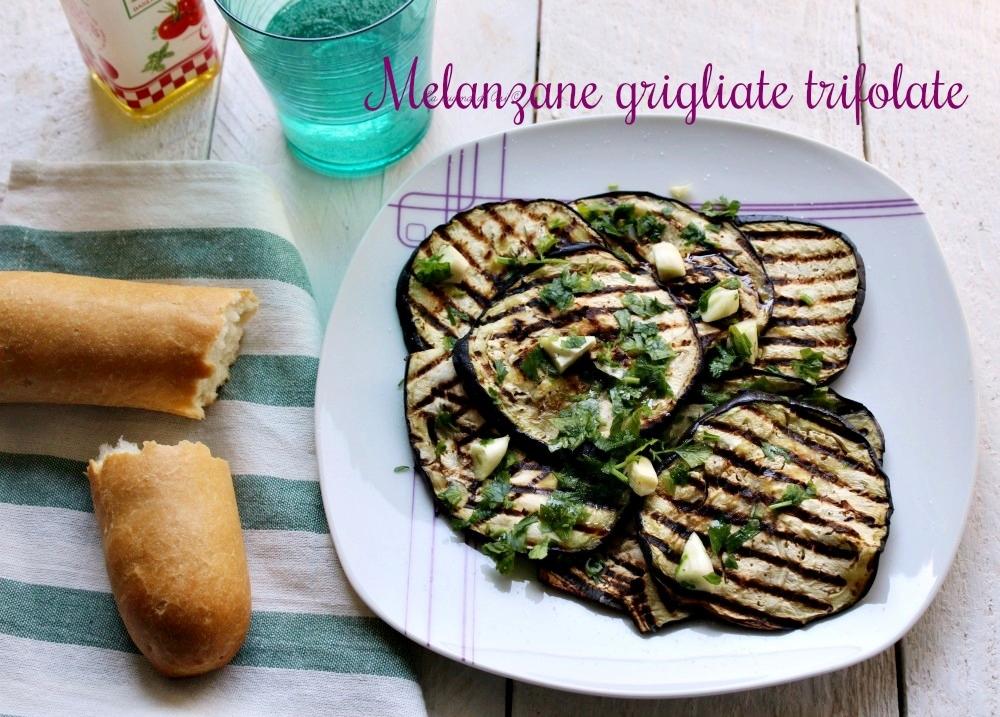 melanzane grigliate trifolate-