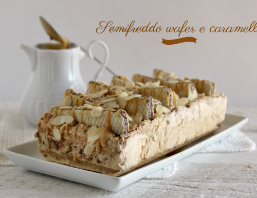 Semifreddo wafer e caramello