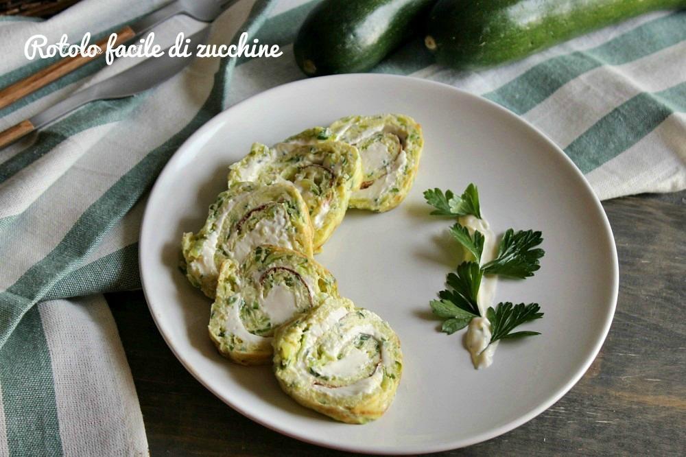 Rotolo facile di zucchine