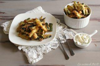 Bastoncini di zucchine gratinate