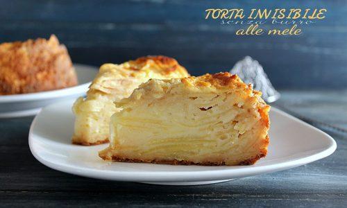 TORTA INVISIBILE ALLE MELE SENZA BURRO