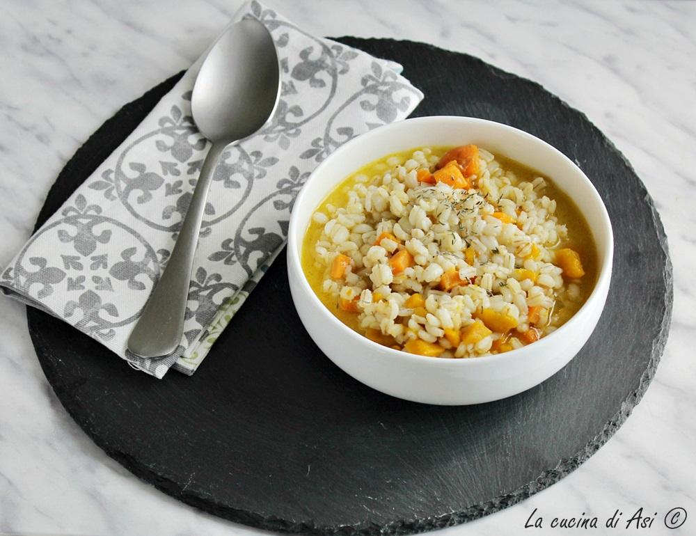 Orzo con zucca e carote