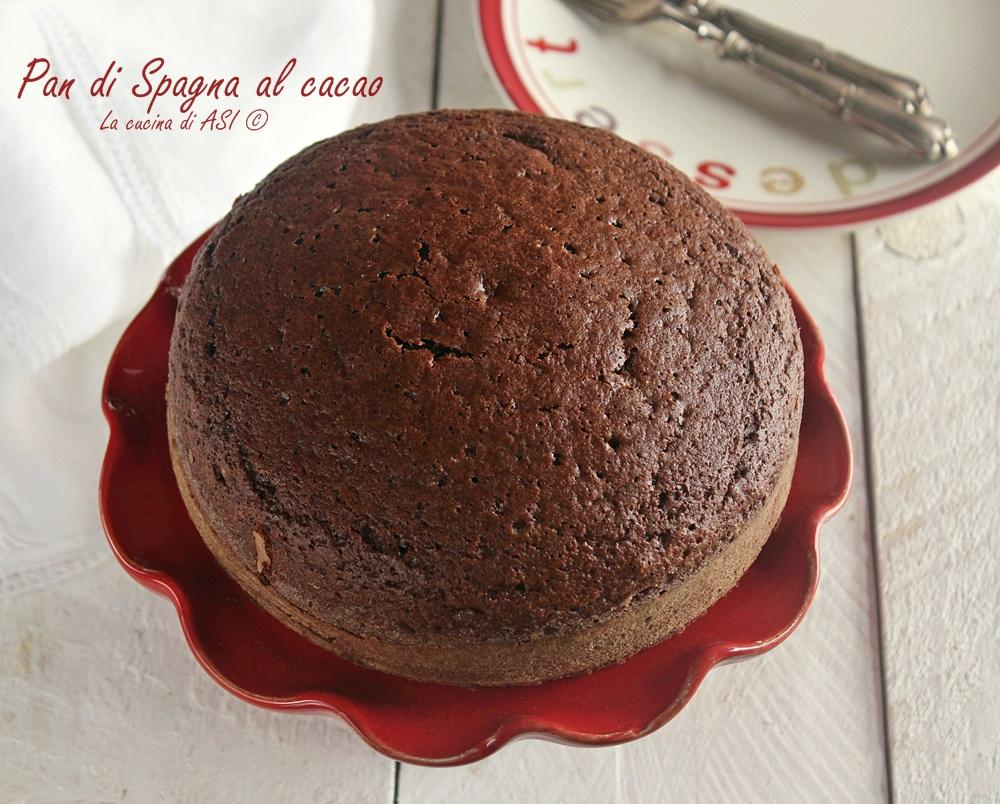 Ricetta Pan Di Spagna Al Cioccolato Bimby.Pan Di Spagna Al Cacao Soffice Facile La Cucina Di Asi