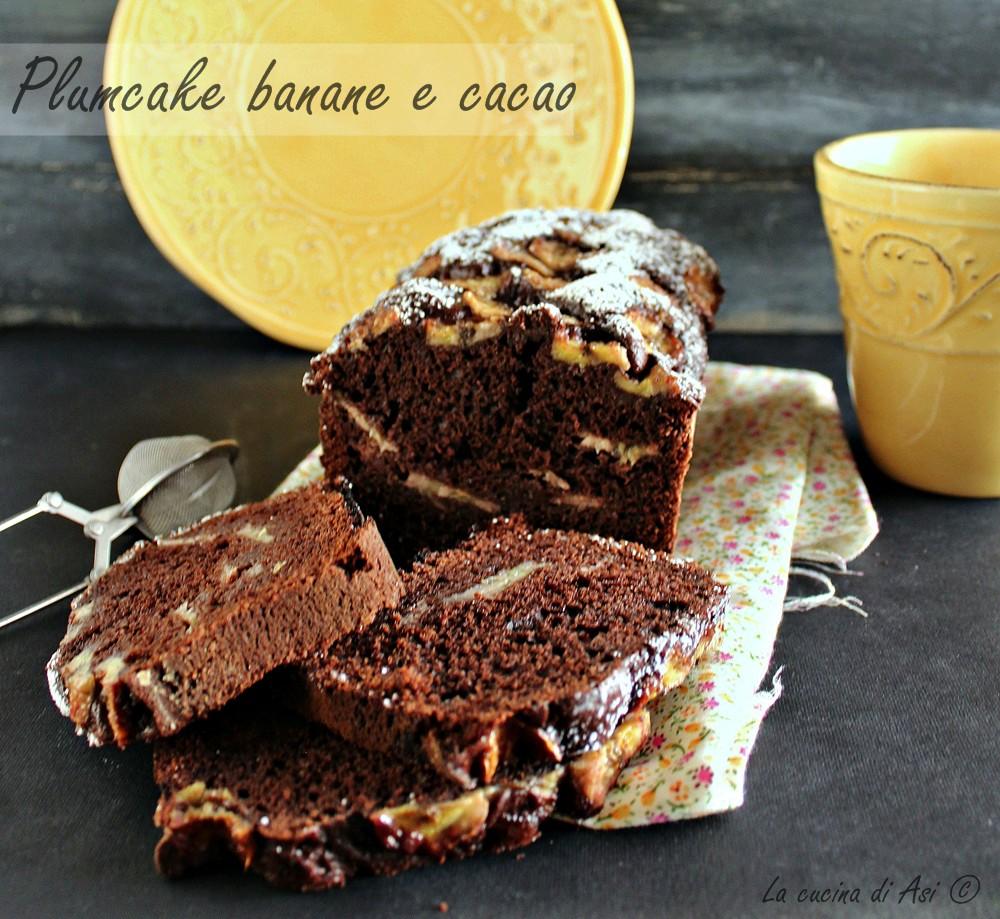 Plumcake banane e cacao
