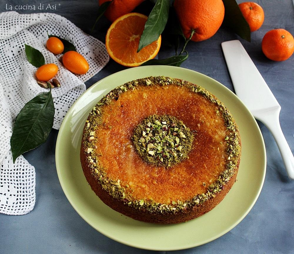 Torta fondente con arancia frullata